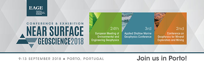 "9-15 September, Porto (Portugal) the annual exhibition-conference in engineering geophysics ""24th European Meeting of Environmental and Engineering Geophysics. Near Surface Geoscience Conference & Exhibition 2018"" will be held"