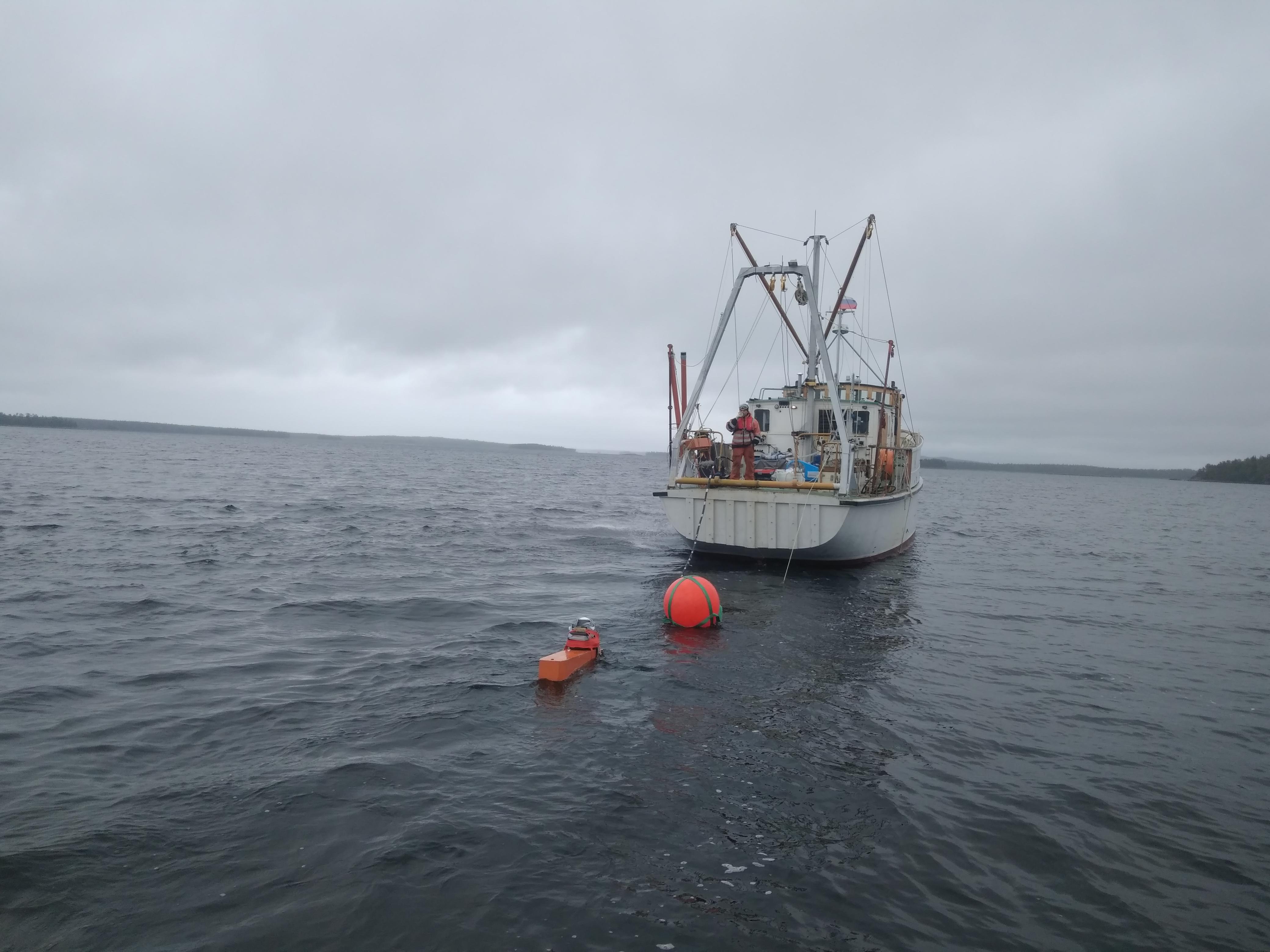 Научный эксперимент с донными косами на Белом море